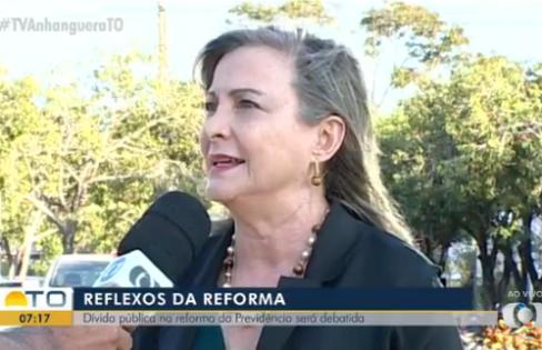 """Maria Lucia Fattorelli para o Bom Dia Tocantins: """"O problema das contas públicas está na política monetária do Banco Central"""""""