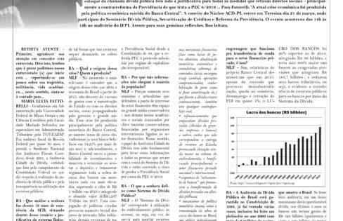 """Jornal Atente: """"Sistema da Dívida afeta a vida de todas as pessoas"""", por M.L. Fattorelli"""