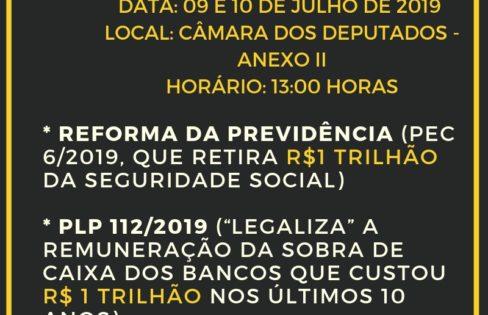 A MOBILIZAÇÃO CONTINUA!!! Barrar a PEC 6 e o PLP 112/2019 que legaliza a remuneração da sobra de caixa dos bancos!