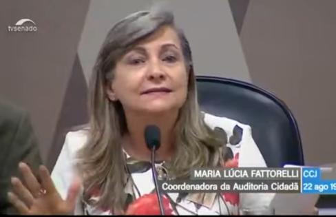 """""""Desajuste fiscal"""": Fattorelli fala na CCJ sobre o verdadeiro problema das contas públicas"""