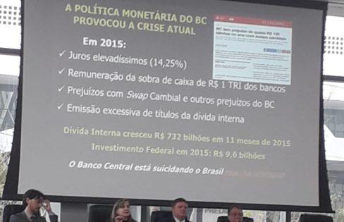 """Palestra: """"Dívida Pública e """"déficit"""" da Previdência  Mitos e Verdades"""", M. L. Fattorelli – Comissão Especial de Seguridade Social da OAB/RS – Porto Alegre/RS"""