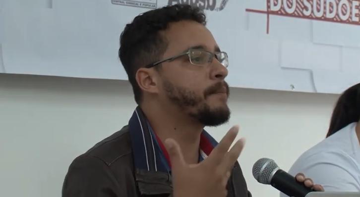 Coordenador do Núcleo Bahia fala no Encontro de Trabalhadores e Trabalhadoras do Sudoeste da Bahia