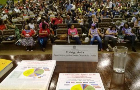 """Palestra: """"A Dívida Pública e a Previdência Social"""", Rodrigo Ávila – Evento em Defesa da Previdência Social – Senado Federal, Brasília/DF"""
