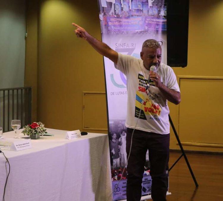 Coordenador do Núcleo RJ debate Previdência nos 30 anos do SINFA/RJ