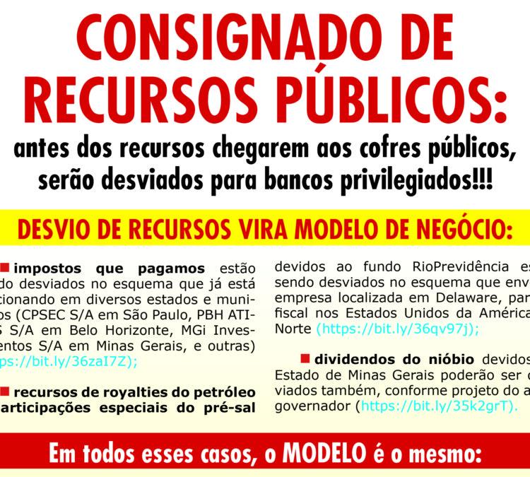 Folheto: Consignado de recursos públicos