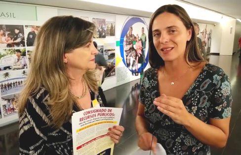 Equipe da Auditoria Cidadã faz mobilização no Congresso contra o PLP 459/2017