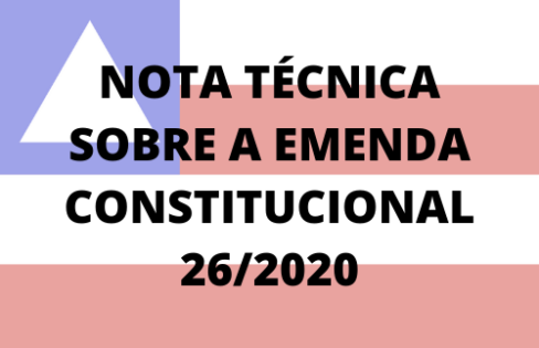 Nota técnica do Núcleo Baiano da ACD – EC 26/2020 – Reforma da Previdência
