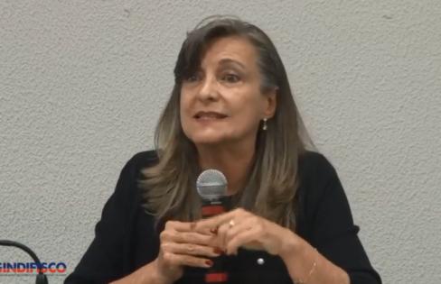 """Palestra: """"Plano Mais Brasil, securitização e a necessidade de auditoria da Dívida"""", por M. L. Fattorelli – Sindifisco/GO – Goiânia/GO"""