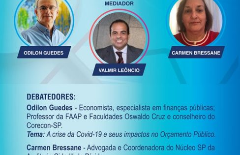 Carmen Bressane participa de debate sobre orçamento, dívida pública e cidadania