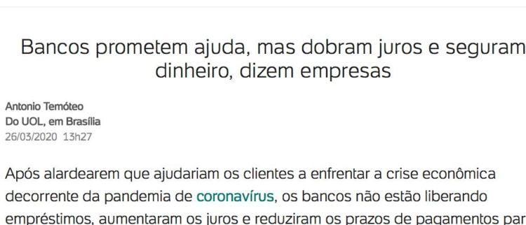 RECADO AOS PEQUENOS EMPRESÁRIOS DO BRASIL, por Maria Lucia Fattorelli
