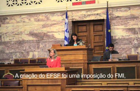 Fattorelli apresenta relatório parcial de auditoria ao Parlamento Grego