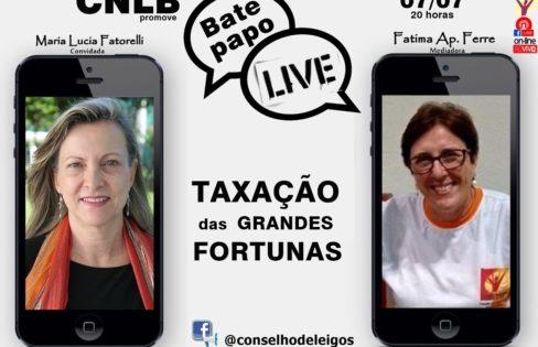 Live: Fattorelli fala sobre taxação de grandes fortunas