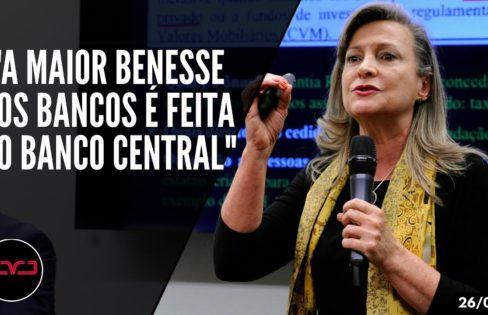 Fatorelli: O Brasil é roubado pelo próprio Brasil, através do Banco Central