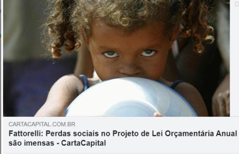 Carta Capital: Fattorelli: Perdas sociais no Projeto de Lei Orçamentária Anual são imensas