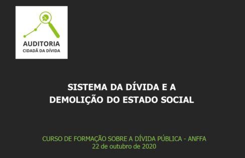 SISTEMA DA DÍVIDA E A  DEMOLIÇÃO DO ESTADO SOCIAL, Maria Lucia Fattorelli – CURSO DE FORMAÇÃO SOBRE A DÍVIDA PÚBLICA – ANFFA