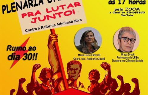 """""""REFORMA ADMINISTRATIVA  E O SISTEMA DA DÍVIDA"""", Maria Lucia Fattorelli – Fórum Baiano em Defesa do Serviço Público"""