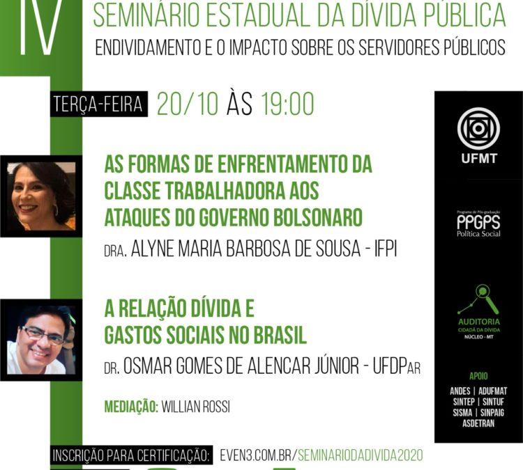Seminário Estadual da Dívida Pública