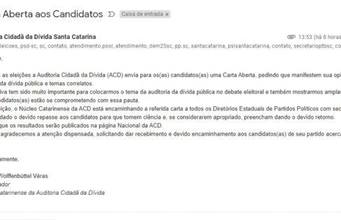 ACD/SC envia carta aos candidatos de Florianópolis