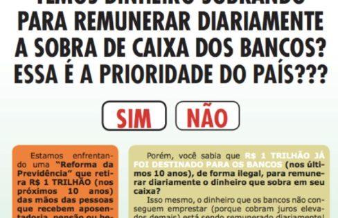 BANCO CENTRAL DOA NOSSO DINHEIRO PARA O SETOR FINANCEIRO – Vídeo 14 #EHORAdeVIRARoJOGO