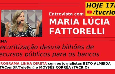 Programa Linha Direta entrevista Maria Lucia Fattorelli