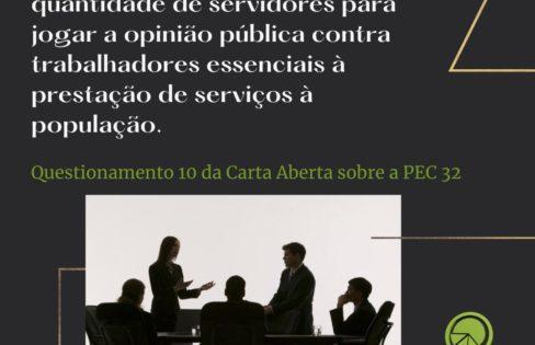Questionamentos Sobre a Reforma Administrativa (PEC 32/2020) – Questão 10