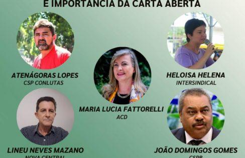 LIVE: Centrais debatem PEC 32 e a importância da Carta Aberta