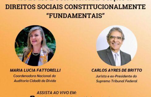 LIVE  01/03: Ex- Presidente do STF, Carlos Ayres de Britto vai debater os perigos da PEC 186