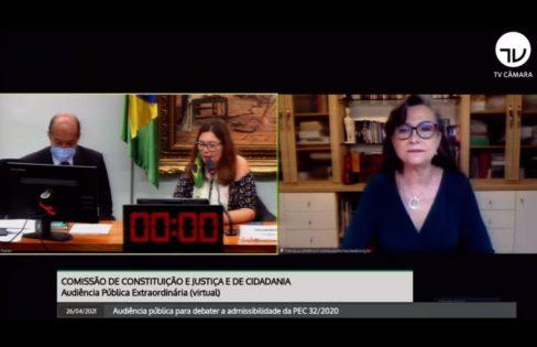 Fattorelli debate PEC 32 na CCJ da Câmara