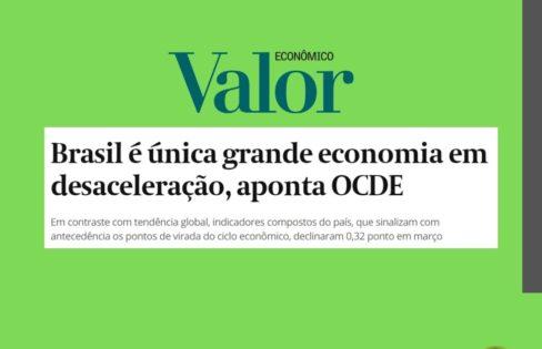 Brasil é única grande economia em desaceleração, aponta OCDE