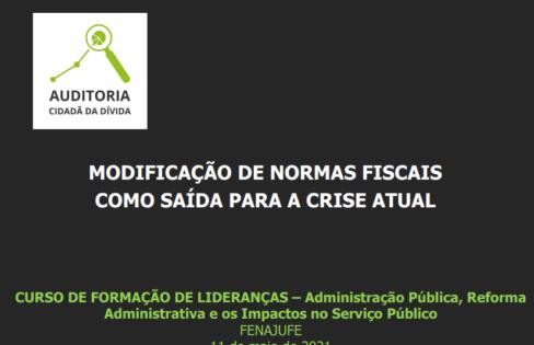 Modificação de normas fiscais como saída para a crise atual – FENAJUFE