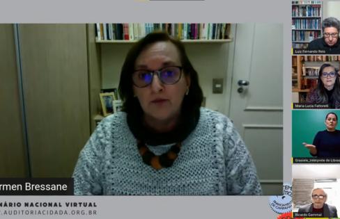 Auditora fiscal Carmen Bressane aborda a origem fraudulenta do município de SP – Painel 8 do Seminário Nacional da ACD