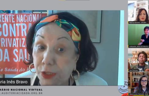 Professora Maria Inês Bravo apresenta a luta pela preservação da Saúde Pública – Painel 9 do Seminário Nacional da ACD