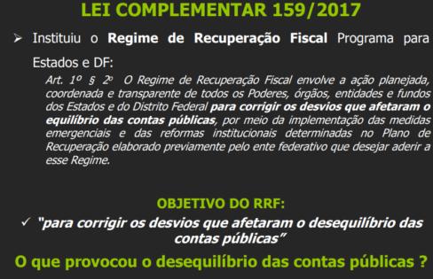 """Regime de Recuperação Fiscal – Aula extra para a Turma 9 do Curso """"Auditoria Cidadã da Dívida dos Estados"""""""