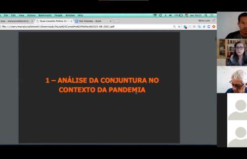 REUNIÃO DO CONSELHO POLÍTICO DA AUDITORIA CIDADÃ DA DÍVIDA – 20/8/21