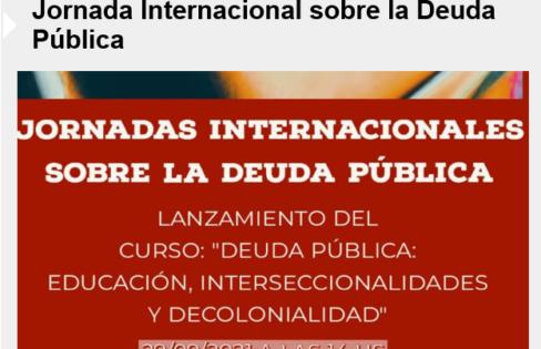 Sistema da Dívida Pública no Brasil – Jornada Internacional de la Deuda Pública – RICDP