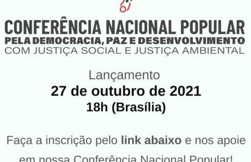 Conferência promove unidade popular na luta social – Inscrições estão abertas